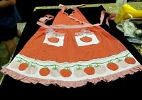Martha Stewart red and white polka dot apron, with tomatoes