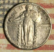 1928-S STANDING LIBERTY SILVER QUARTER COLLECTOR COIN. FREE SHIPPING