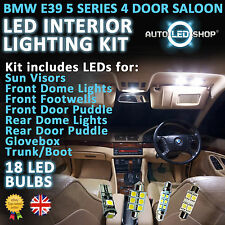 Bmw E39 5 Series Saloon SMD LED interior Completo Full Kit Set Bulbo Xenon Blanco