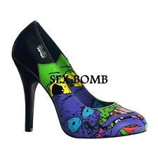 Sexy Scarpe DONNA DARK GOTHIC DECOLLETE TACCO 11.5 n. 40 Fashion GLAMOUR