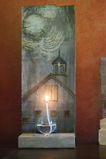HAND-PAINTED VERMONT LYNDONVILLE BARN OIL LAMP FOR TABLE TOP OR WALL SCONCE