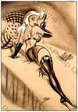 Classic 1940s/50s Vintage Art of Bill Ward Pin-up Poster re-print A4, A3,