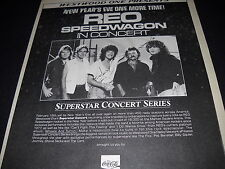 Reo Speedwagon New Year's Eve One More Time 1985 Promo Display Ad mint condition