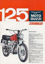 1967 Moto Guzzi 125cc Stornello Scrambler Enduro original double sided brochure