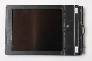 "Lisco 4x5"" Cut Sheet Film Holder - Wood/Metal - Complete Good Tape - USED H108"