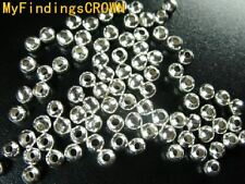 1500 Pcs Silver plated metal spacer beads 3.2mm