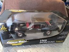 1968 Pontiac Le mans  1/18 american muscle Black w/red interior chrome nose cone