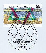 RFA 2007: Juif Centre Munich N° 2594 avec Bonner Timbre spécial! 1A! 1807