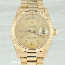 Rolex President Oyster Men's Watch - 18k Gold Day Date 18038 Tags Box Warranty