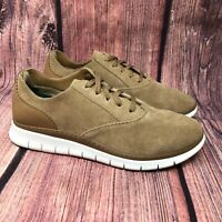 Vionic Taylor Women's Tan Brown Suede Lace Up Sneaker Shoes Size 8.5