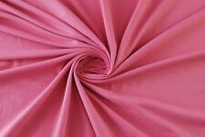 Jersey piqué di cotone rosa STOFFA AL METRO TESSUTO A METRAGGIO