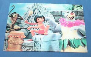 VINTAGE DISNEY THE JUNGLE BOOK MOWGLI BALOO LENTICULAR 3D PICTURE POSTCARD 1967