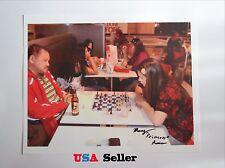 Chess Mary Avina With Efren Reyes SIGNED by Mary 8x10 photo Nice! Billiard Print