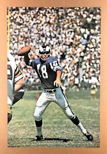 ROMAN GABRIEL (1968) *NFL FOOTBALL POSTER* Los Angeles Rams *SPORTS ILLUSTRATED*