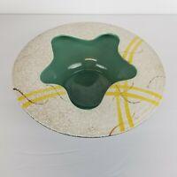 Mid Century Ikebana Vase Organic Abstract Opening Pottery Planter Japan Vtg