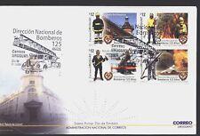 URUGUAY 2012,FIREMEN ,CAR SCALE FIRE FDC YV 2583-6