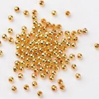 lot de 100 perles ronde lisse intercalaire Ø 4 mm doré -  bijou diy