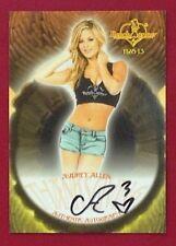 2013 Benchwarmer Thanksgiving 11-28-13 Audrey Allen Autograph Card # 3