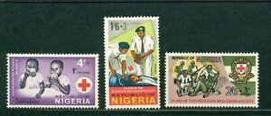 Nigeria Scott #B1-B3 MNH Nigerian Red Cross CV$2+