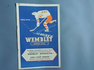 Ice Hockey Empire Pool. Wembley Lions v Earls Court Rangers. 23rd December 1948