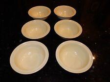 6 Vintage Florence Prolon Ware Melmac Melamine Stacking Cereal Desert Bowls Euc