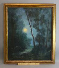 Antique Signed American Arts Crafts Tonalist Oil Painting, Newcomb Macklin Frame