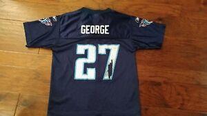 Vintage Eddie George Tennessee Titans Reebok Jersey Size Youth Medium