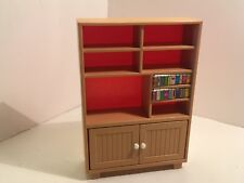 Vintage Tomy Dollhouse Furniture Entertainment Center w/ Books 1:16 #16