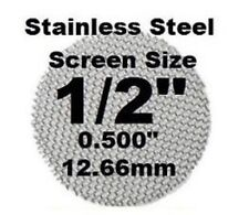 "10 Stainless Steel Screens 1/2"" 12.7mm Vapor/Vaporizer Fine Mesh USA MADE"