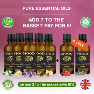 Essential Pure Oil 100ml Natural Aromatherapy Oils Fragrances Organic Diffuser