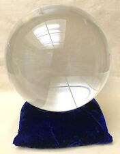 200 mm Gazing Ball Sphere Globe Clear Crystal Ball Garden Metaphysical 22 lbs.
