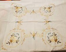 Embroidered Tea Tablecloth and Napkins
