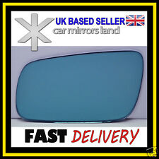 Left Wing Car Mirror Glass Replacement BLUE BLIND SPOT VW Golf 4 1994-2004