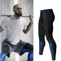 Mens Compression Base Layer Trousers Gym Sports Breathable Tight Pants Leggings