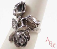 Sterling Silver Vintage 925 Beautiful Rose Flower Ring Sz 5.5 (5.9g) - 745508