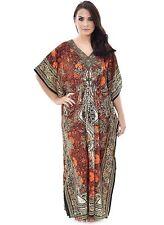 Ladies Kaftan Dashiki BEACHWEAR African Paisley Print Summer Dress  SALE ORANGE