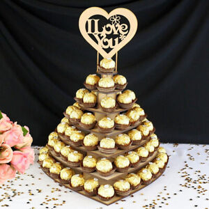 Wooden Chocolate Frame Heart Cake Wedding Display Stand Party Decoration