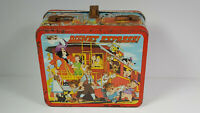 Vintage Disney Express Metal Lunchbox No Thermos Bottle Aladdin Rare Rusty