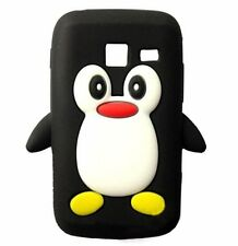 Black Silicone Penguin Phone Case / Cover for Samsung Galaxy Y Duos S6102