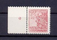 SBZ 36 Xc 12 Pfg. seltene Farbe lebhaftbraunrot postfrisch gepr. Kramp (xs70)