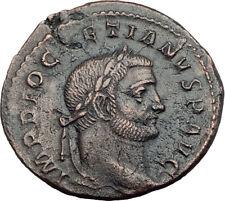 DIOCLETIAN Original 295AD Large Authentic Ancient Roman Coin GENIUS i63584