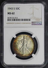 1943-S Walking Liberty Silver Half Dollar NGC MS-62