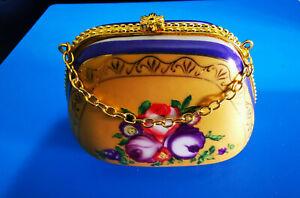 The Regal Collection Porcelain Floral Bag