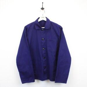 Vintage FRIENDSHIP French EU Worker CHORE Jacket Work Over Shirt Blue M   Medium