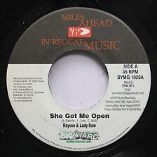 Hear! Rap Hip Hop 45 Rayvon & Lady Raw - She Got Me Open / Same On Miles Ahead