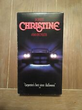 CHRISTINE VHS Columbia Pictures HORROR FILM, JOHN CARPENTER