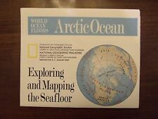 National Geographic Map Arctic Ocean Exploring & Mapping Seafloor January 1990