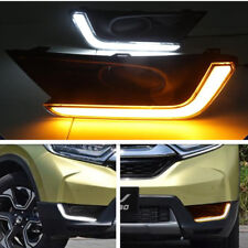 DRL LED Daytime Running Light Fog Lamp Turn Signal For Honda CR-V CRV 2017 2018