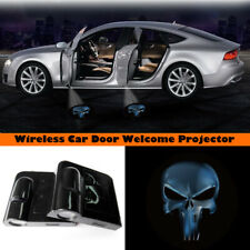 Wireless Car Door Light Led Welcome Projector Blue Punisher Logo Shadow Light