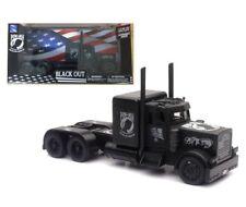 Peterbilt Veterans POW-MIA Black Out Semi Truck Diecast 1:32 Newray 12inch Matte